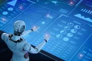 Robot operando un sistema